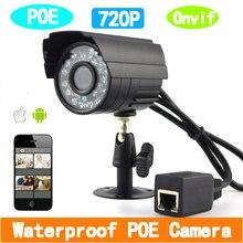 1280*720 P 1.0MP ONVIF POE Açık Su Geçirmez P2P IP Kamera ağ kamerası Ir cut Filtre Ile Nightvision