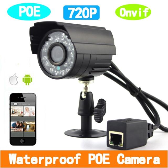 1280*720 P 1.0MP ONVIF POE في الهواء الطلق للماء P2P IP كاميرا كاميرا شبكة مراقبة مع IR قص تصفية Nightvision