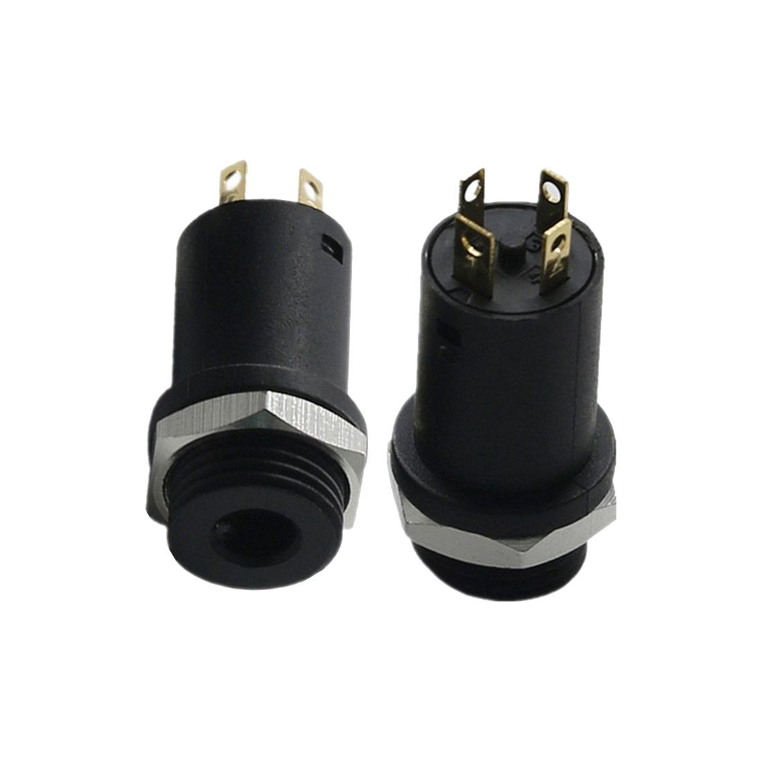 medium resolution of 10pcs 3 5mm mini stereo female panel mount headphone jack solder black 4 conductor in earphone accessories from consumer electronics on aliexpress com