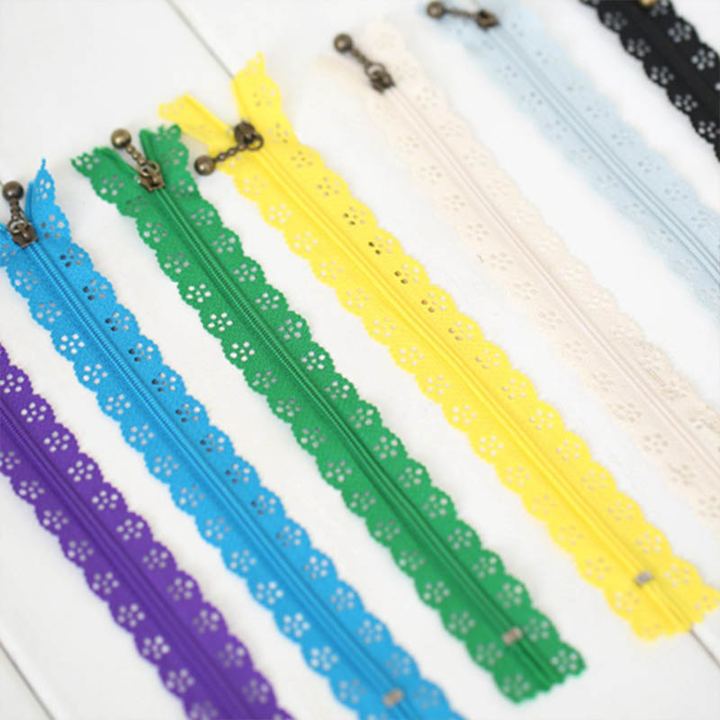 10pcs Random Colors 20CM Closure Craft Lace Zipper Tailor Sewing Accessories Clothes Invisible Zippers Nylon