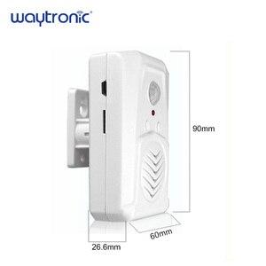 Image 5 - Waytronic Pir capteur de mouvement infrarouge activé voix lecteur Audio enregistrable entrée sonnette de bienvenue pour magasin de magasin avec Usb