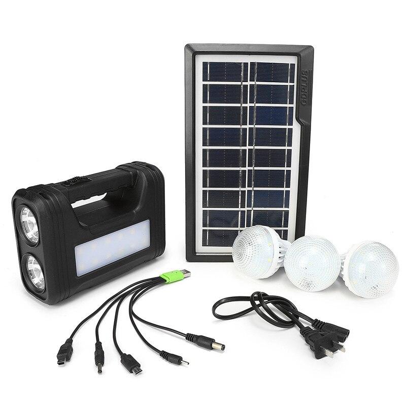 Portable Solar Power Led Lighting System Solar Power Panel Generator Kit with Energy Saving Led Lamp Outdoor Emergency Lighting