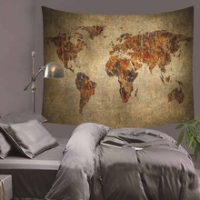 World Map Scenery Printed Polyester Wall Hanging Tapestry Room Decorative Wall Tapestry Carpet Beach Towel Rectangle Tablecloth new printed wall hanging tapestry world map tapestry beach towel blanket carpet rectangular tablecloth room decorative tapestry