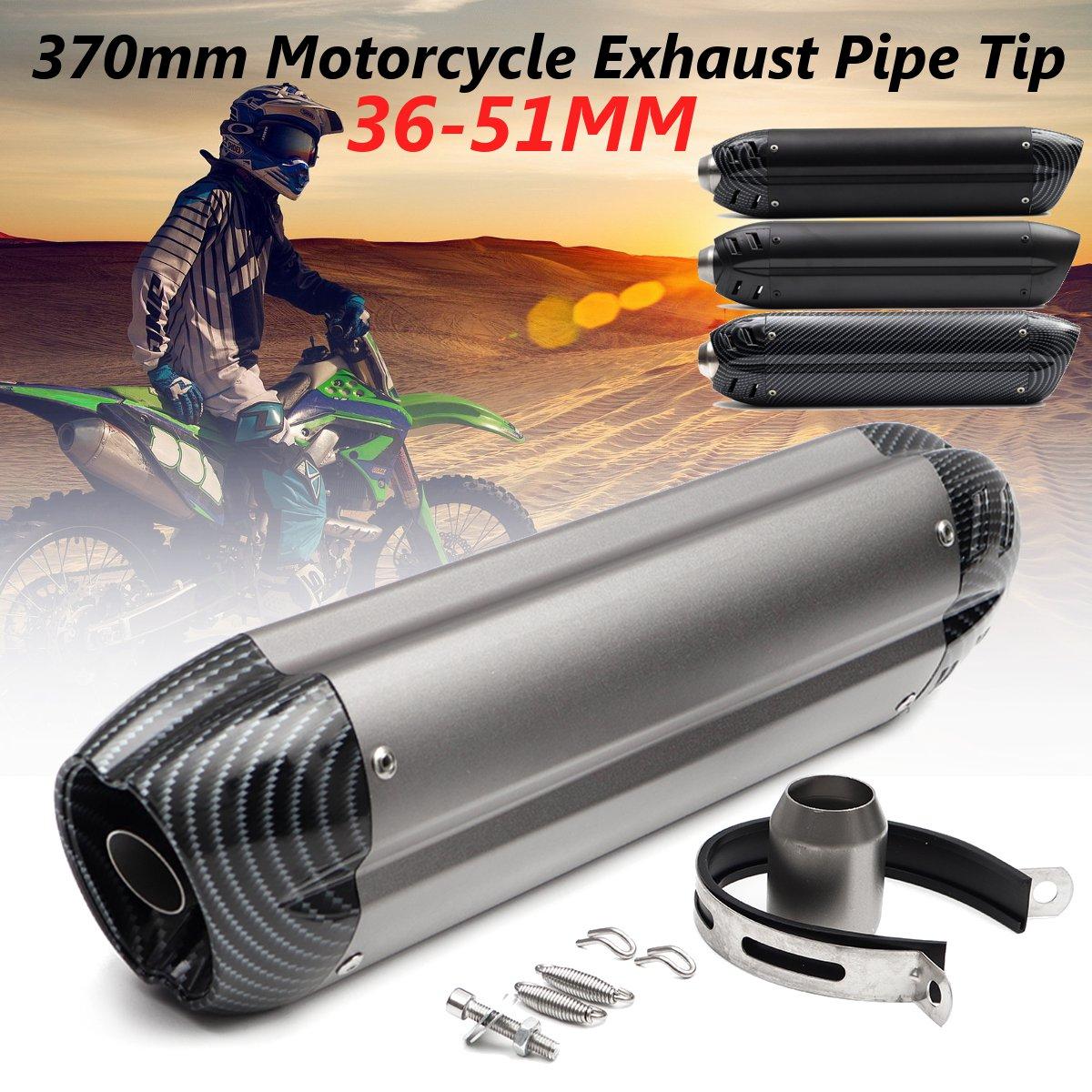 Universal 36 51mm Aluminium Alloy Motorcycle Exhaust Muffler Pipe Tip for Kawasaki for Honda ATV Dirt