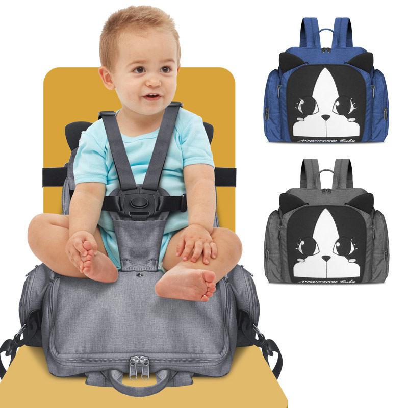 Intelligent 2 In 1 Multifunktions Wasserdichte Highchairs Baby Esszimmer Stuhl Windel Mama Tasche Fütterung Booster Sitz Tragbare Abdeckungen Für Baby