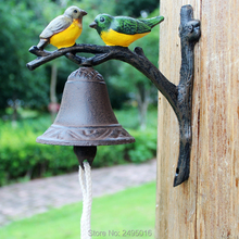 Wrought Iron Doorbell Cast Hand Bells Retro Two Little Birds Modelling