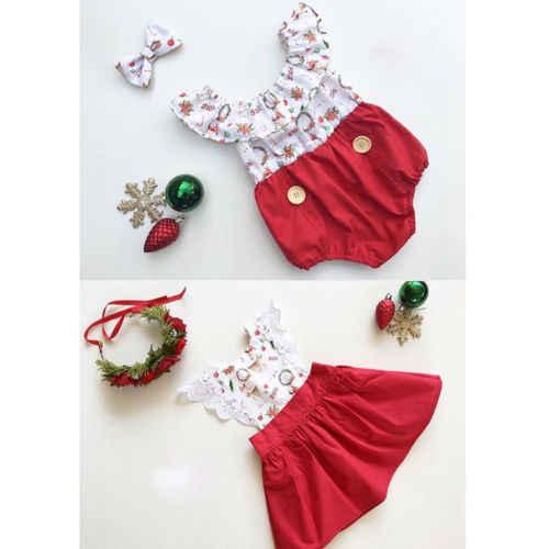 2019 Navidad Romper vestido chico niña Navidad hermana a juego ropa mono Romper vestido de encaje niño Navidad traje