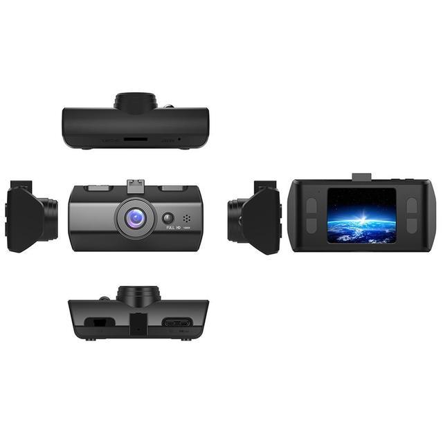 Car DVR Single Lens Video Driving Record Camera Night Vision 720P Black 120 Degrees G-sensor