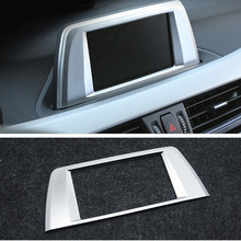 Car Center Central Navigation Panel Frame Cover Trim Sticker For BMW X1 F48 2016 2017 2018 2019 X2 F47 2018 Accessories styling