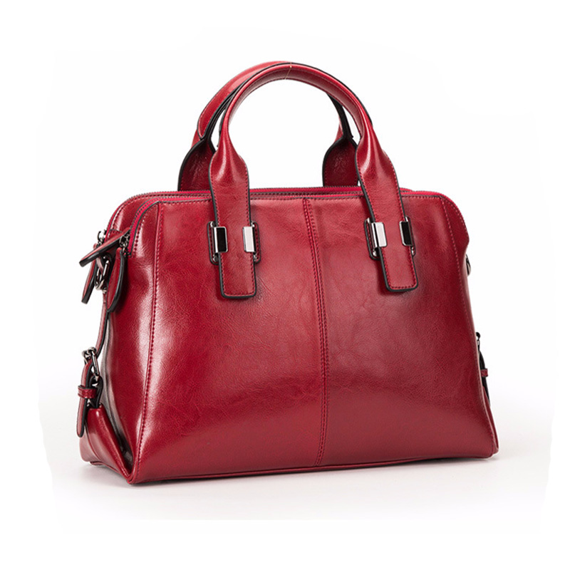 Leather Ladies Handbags Women Leather Bags Casual Fashion Classic Totes Messenger Bags Designer Bag Red