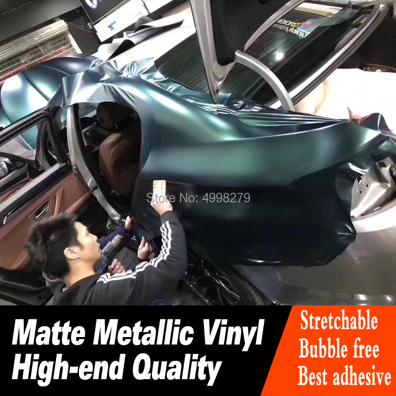 Höchste qualität Wald grün auto Vinyl Wrapping film Mit Air release Auto Wrap Fahrzeug Wraps deck niedrigen initial tack klebstoff - 3
