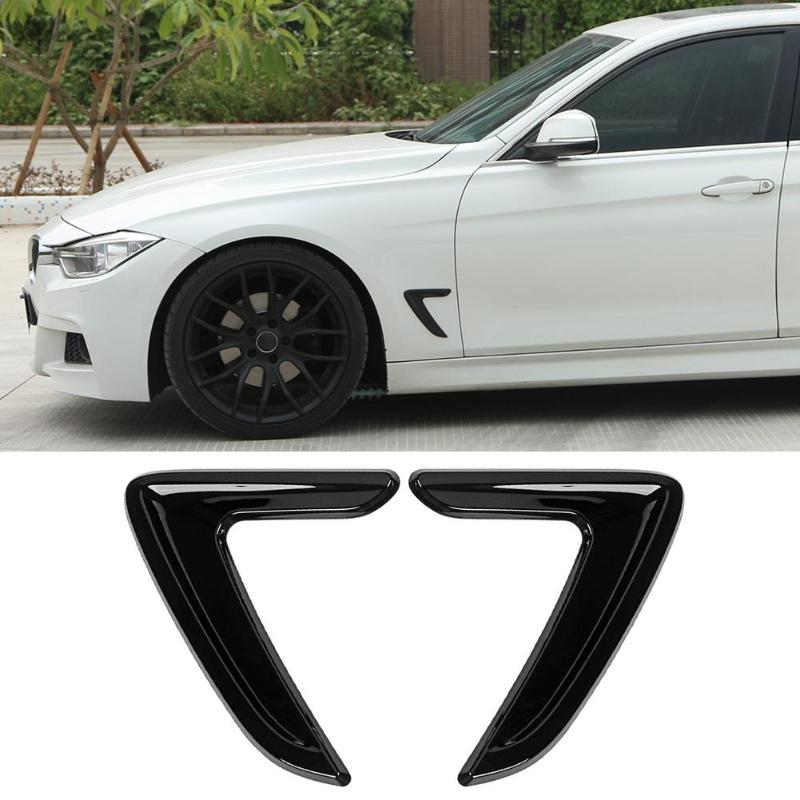 1 Pair Car Side Air Vent Cover Trim Fender Sticker For BMW 3 Series F30 2012-2016 Car-styling Stickers