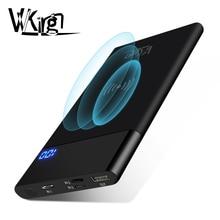 Chargeur sans fil de Qi de banque de puissance de 10000mAh pour liphone 8 X XR Samsung Xiaomi Huawei LCD chargeur externe portatif dusb de paquet de batterie