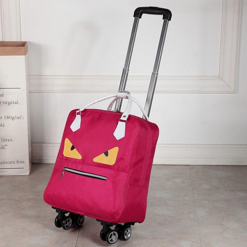 Bolsa de viaje resistente al agua de alta capacidad estilo grueso maleta con ruedas para hombre - 4