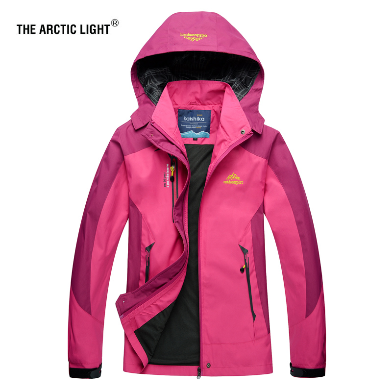 THE ARCTIC LIGHT Women Hiking Jacket Trekking Travel Autumn Windbreaker Waterproof Windproof Breathable Outdoor Camping Coat