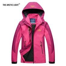 THE ARCTIC LIGHT Women Hiking Jacket Trekking Travel Autumn Windbreaker Waterproof Windproof Breathable Outdoor Camping Coat