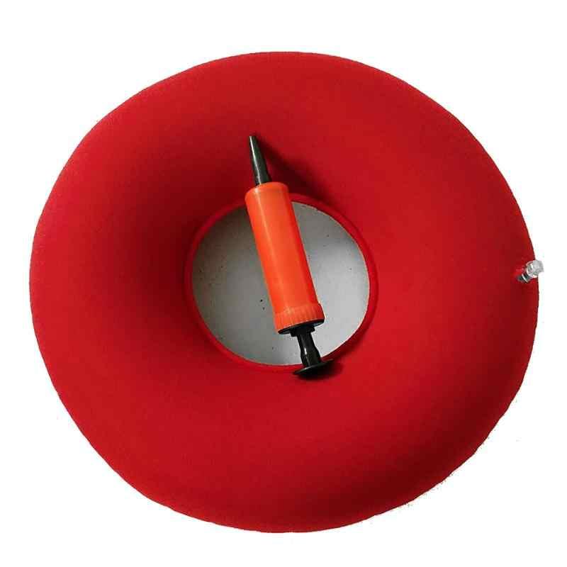インフレータブルビニールリングラウンドシートクッション医療痔枕ドーナツ送料ポンプゴムインフレータブルシートパッド 34*12 センチメートル #125