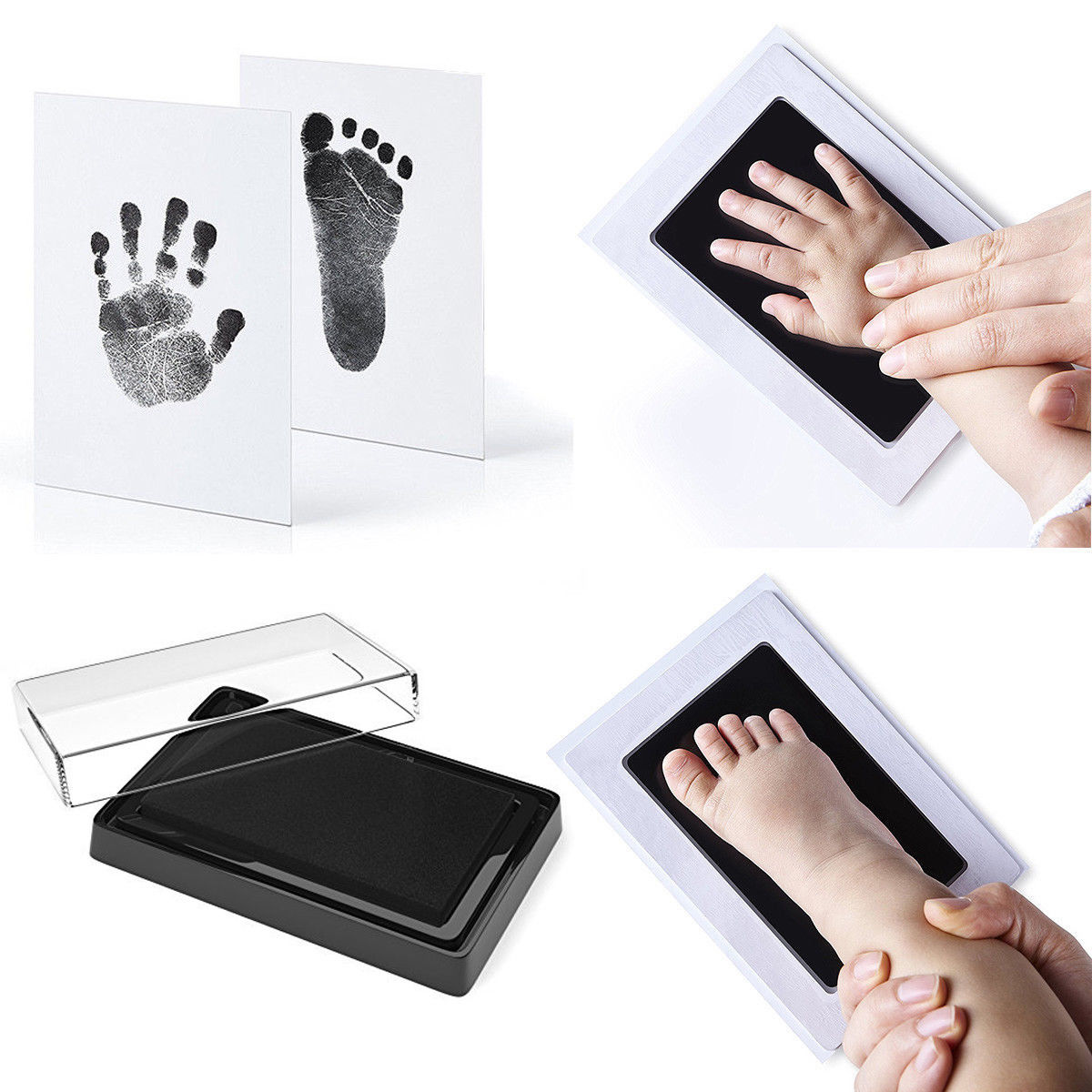 Baby Safe Print Ink Pad Footprint Handprint Kit Keepsake Maker Memories DIY