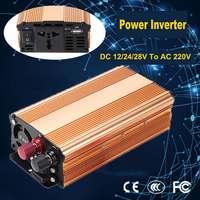 Professional Power Inverter 3000W DC 12/24/28V To AC 220V Converter Pure Sine Wave Power Inverter Reverse Polarity Inverters