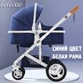 Belecoo cochecito de bebé puede sentarse reclinable plegable luz portátil de alta paisaje shock carrito de bebé