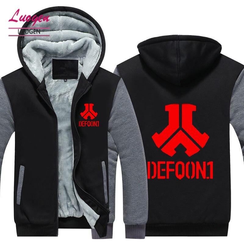 TAILLE USA Mode DJ Defqon.1 Rock Bombardier Hiver sweat à capuche pour homme Vestes décontracté Hip Hop Hommes Vestes Chaudes Surdimensionné