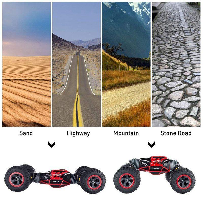 Voiture RC, voiture télécommandée, voiture RC de course pour adultes et enfants, arbitrairement déformé 20 km/h haute vitesse soutenu par 6.9 V/600 mAh R - 4
