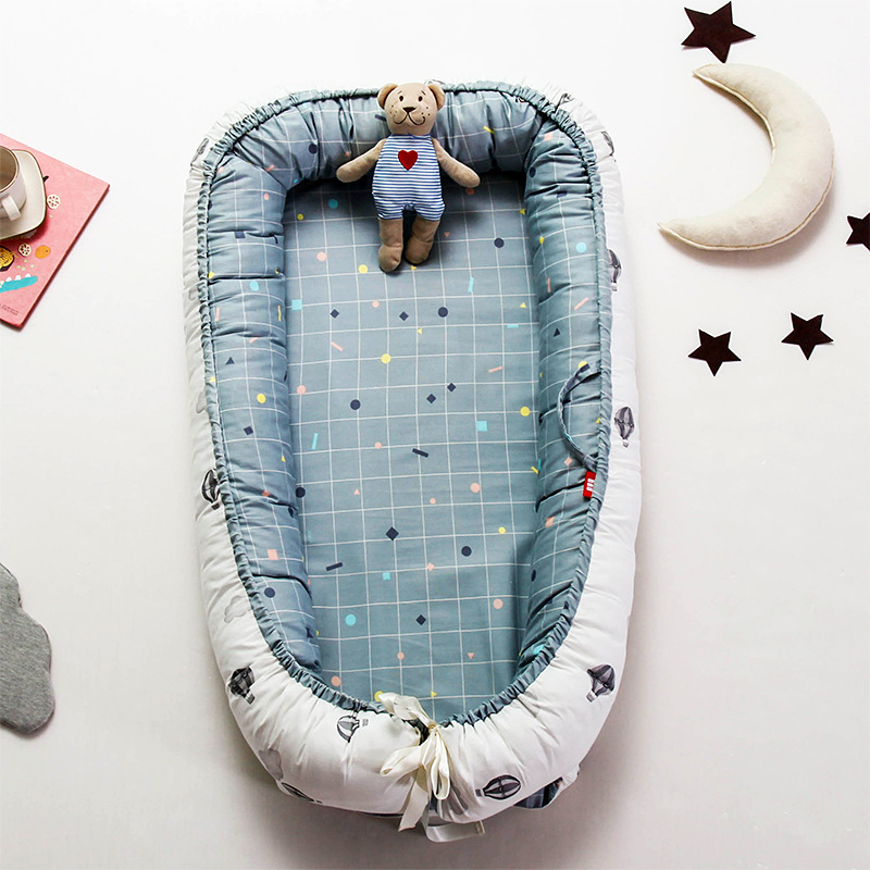 90*55cm Newborn Baby Crib Bed Portable Travel Sleeping Bed Infant Kids Cotton Cradle Nest Bed Mattress Foldable Children Enfant