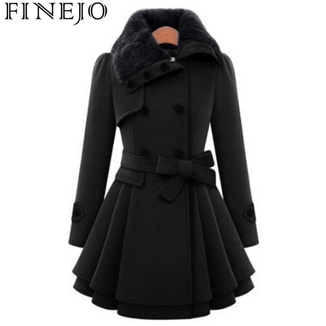 Модное женское пальто с двойными пуговицами А-силуэта, Зимняя женская теплая ветровка для фитнеса, большие размеры, плиссированная верхняя ...