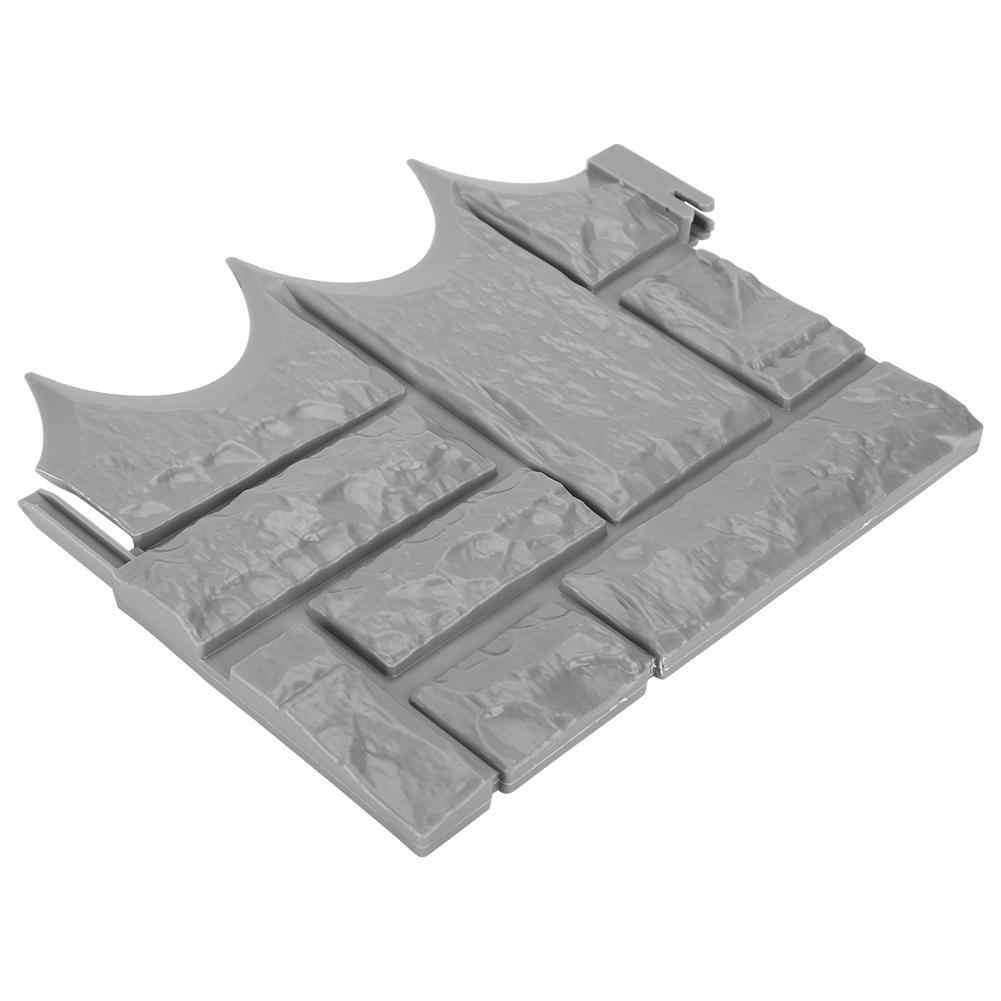 6 шт. садовый декоративный кирпич цементное ограждение Каменная форма бетонная Цветочная лужайка во дворе пресс формы