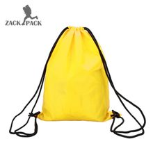 1 pcs Sports Waterproof custom logo Cotton Drawstring pouch Backpack Pull Rope Canvas sack Bag School girls boys Mochila DB10(China)
