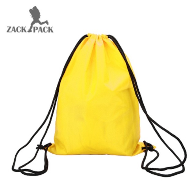 1 Pcs Sports Waterproof Custom Logo Cotton Drawstring Pouch Backpack Pull Rope Canvas Sack Bag School