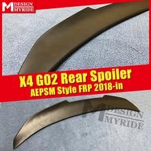 G02 AEPSM style rear Spoiler FRP Primer black For BMW X4 wing Lip trunk 14-18