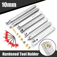 Drillpro atualização 21 pçs 10mm torneamento ferramenta titular torno chato barra + carboneto de inserção chave conjunto liga aço