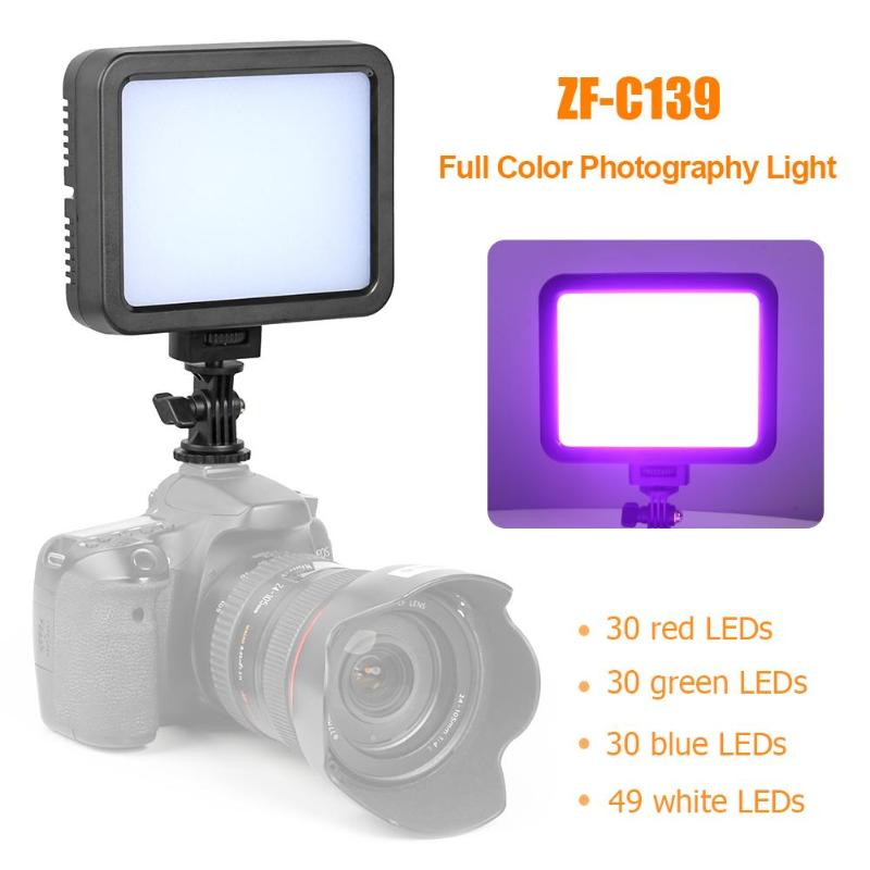 ZF-C139 Full Color Photography Light Dimmable Fill Light Studio Video Lamp 139 LEDs Color 360 kinds Photography LightZF-C139 Full Color Photography Light Dimmable Fill Light Studio Video Lamp 139 LEDs Color 360 kinds Photography Light