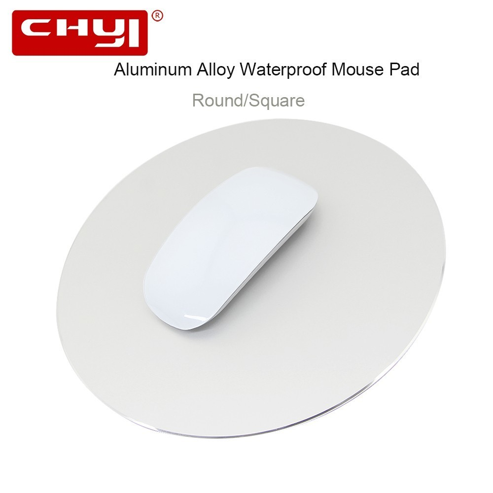 CHYI Aluminium Alloy Mouse Pad Round/Square Ultrathin Metal <font><b>Mousepad</b></font> Non-Slip Rubber Computer Gaming Mat for Apple <font><b>Xiaomi</b></font> PC image