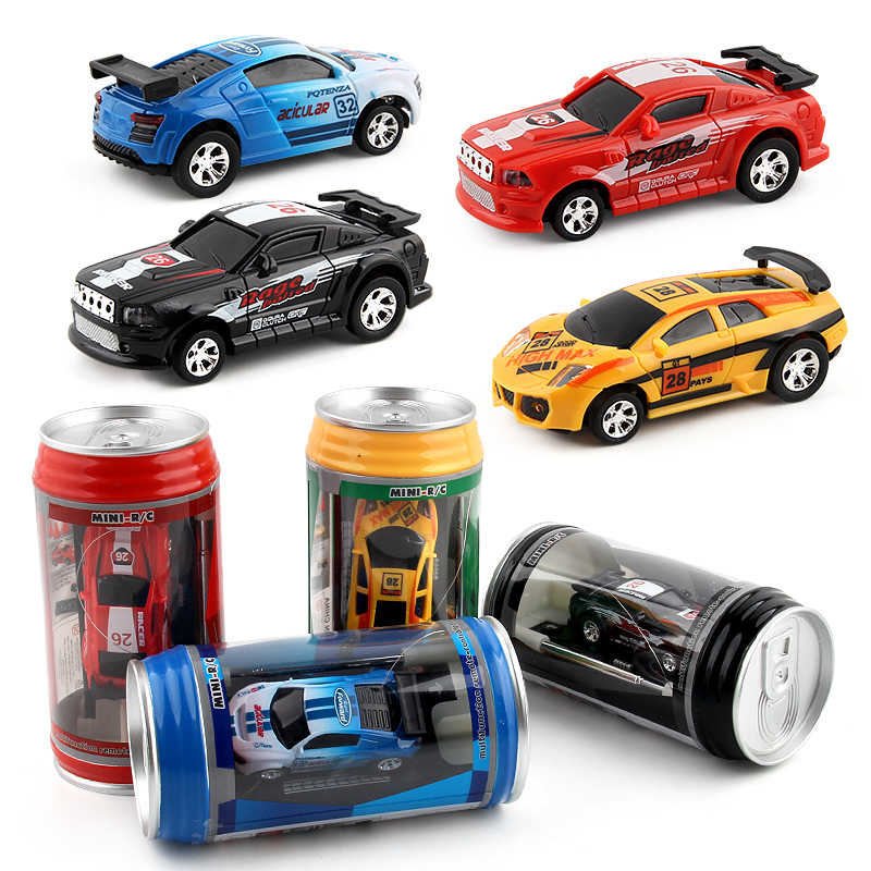 Multi-color Hot Sales Remote Control Car Coke Can Mini RC Car Radio Remote Control Micro Racing Car Toy For Kid Christmas gifts