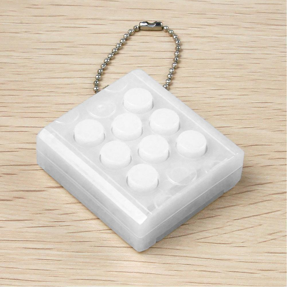 Anti Stress Toys Pop Electronic Bubble Wrap Keyring Decompression Cube Infinite Silicon Keychain With Fun Voice White
