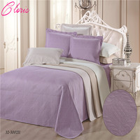 CLORISMicrofiber Fabric Bedding Blanket 230*250CM Fashion Luxurious Bedspread With Pillowcases On Bed