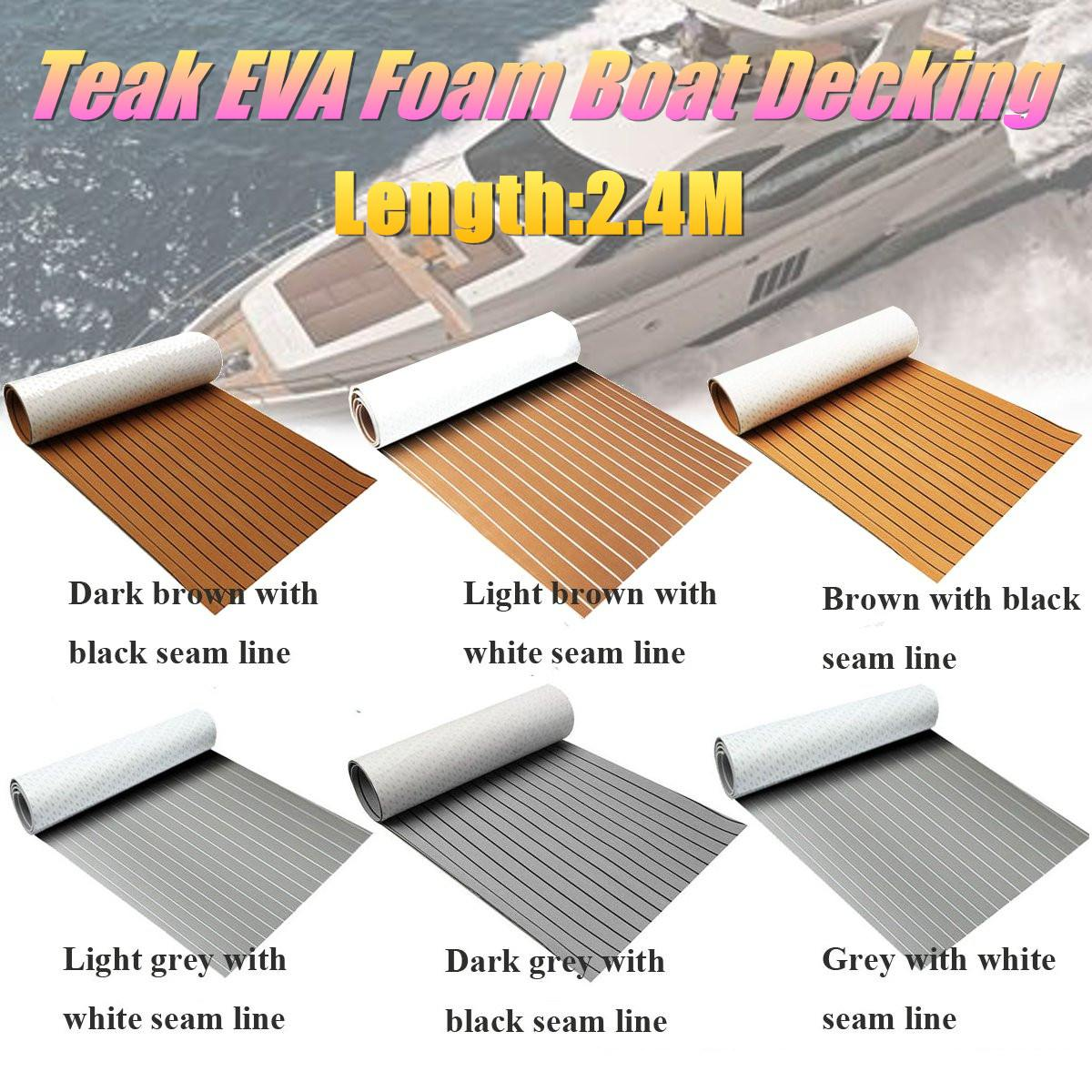 6 Styles Self-Adhesive Foam Teak Decking EVA Foam Marine Flooring Faux Boat Decking Sheet Accessories Marine Brown Black6 Styles Self-Adhesive Foam Teak Decking EVA Foam Marine Flooring Faux Boat Decking Sheet Accessories Marine Brown Black