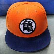 De alta calidad de Goku de Dragon ball Z gorra de béisbol plana Snapback Hip  Hop gorras de béisbol casuales Anime cosplay tapa 1c845a51248
