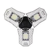 60W Led Deformable Lamp Garage Light E27 LED Corn Bulb Radar Home Lighting High Intensity Parking Warehouse Industrial CF