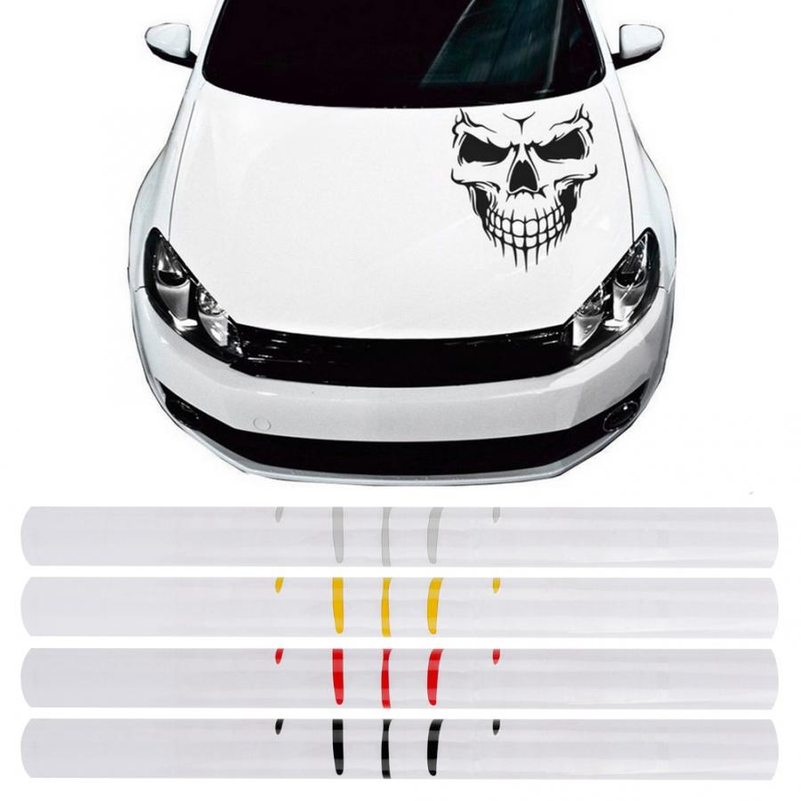stickers Self-adhesive Car Body Side Door Sticker Skull Decal Tape Decoration Accessory Car styling