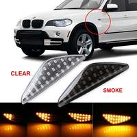 A pair Dynamic Flowing Turn Signal Lights LED Indicator Lamp Signal Side Marker Light For BMW E70 X5 F25 X3 E71 X6 07 13