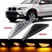 UM par de Fluxo Dinâmico Turno Sinal Luzes LED Indicador Da Lâmpada de Sinal Lado Marcador de Luz Para BMW E70 X5 F25 X3 e71 X6 2007-2013
