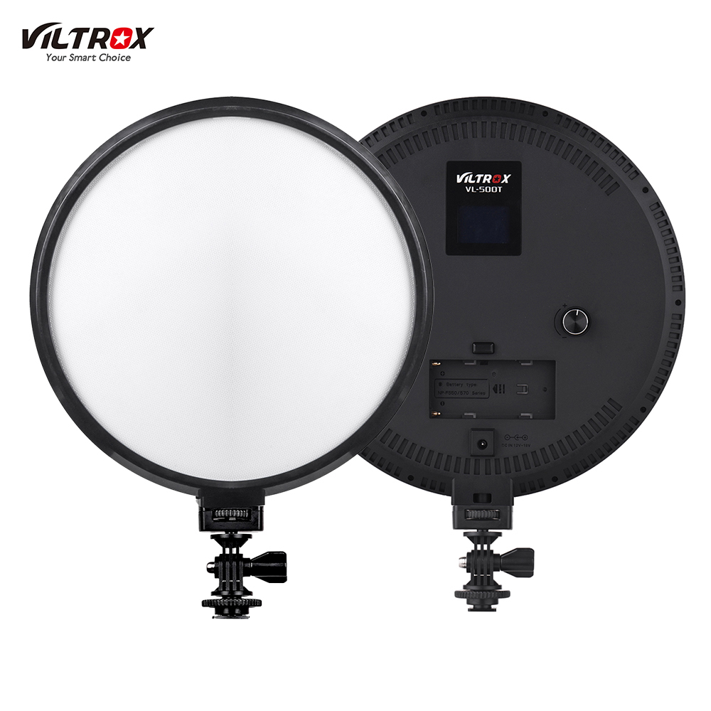 Viltrox VL 500T 9 Inch Circular LED Video Light 3300K 5600K CRI 95 Max Power 25W