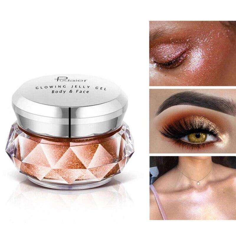 Face Gel Waterproof Beginner Beauty Tools High Light Featured Highlights Jelly Powder Mermaid Eye Shadow Cream Body Beauty Essentials Beauty & Health
