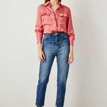 Trendyol синие Черные джинсы с завышенной талией Mom Denim TCLSS19LR0126