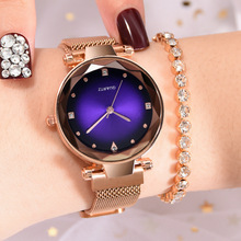 Woman Watch 2019 Luxury Rose Gold Stainless Steel Quartz Watch Women Crystal Starry Sky Wrist Watches Ladies Watch Reloj Mujer simple mesh dial women watch creative rose gold black quartz wrist watches luxury stainless steel mesh crystal watch reloj mujer