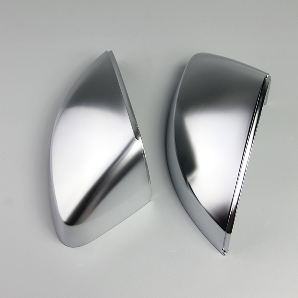1 Pair of Matte Chrome Rearview Mirror Shell Cover Protection Cap For Audi A3 S3 RS3