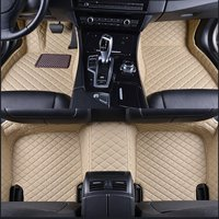 1set Car Leather Front Rear Floor Mats Set Liner Waterproof 5 Seat Mat For BMW 3 Series E90 2005 2013 90x50x18CM Black Red Brown